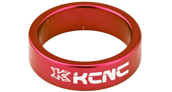 """KCNC Headset Spacer 1 1/8"""" 10mm rød"""